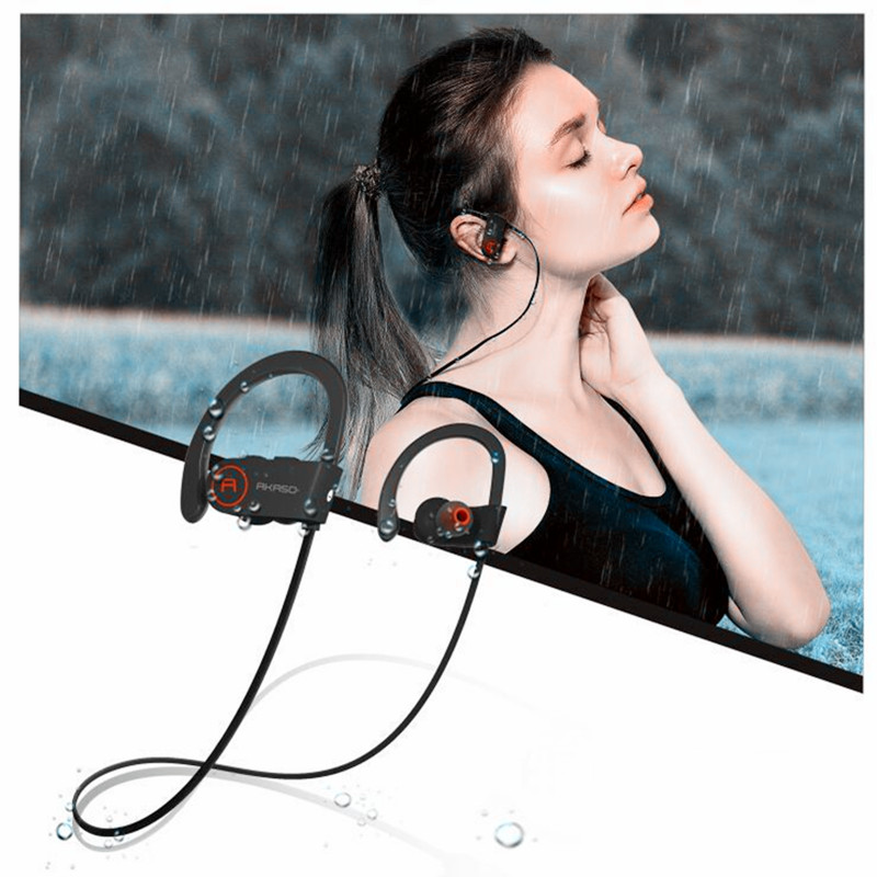 AKASO AKASO A1 IPX6 Waterproof Running Bluetooth Mini Headphones Sports headset Wireless earphone for G S remax 2 in1 mini bluetooth 4 0 headphones usb car charger dock wireless car headset bluetooth earphone for iphone 7 6s android