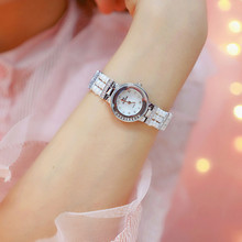 New Luxury Rhinestone Casual Dress Quartz Women Watches Fashion Pearl Band Woman Watch Women Fashion Bracelet Watch relogio цена