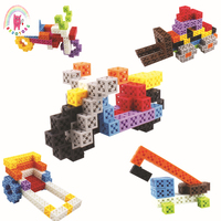 178pcs plastic building block set DIY creative education toy construction vehicle animal model 3D assembly of children toy gifts