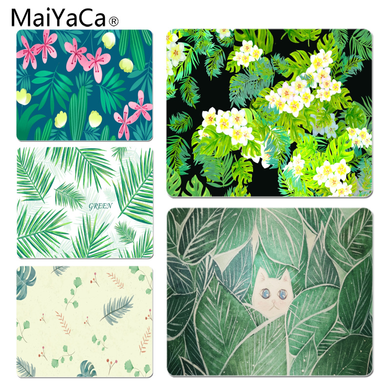 MaiYaCa New Designs Plant Background Element Laptop Gaming Mice Mousepad Size for 180x220x2mm and 250x290x2mm Small Mousepad
