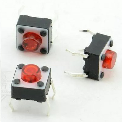 6*6*5 Gules Directly Insert Button Red Head 6X6X5 Red Pin Electromagnetic Furnace Switch Tact Switch