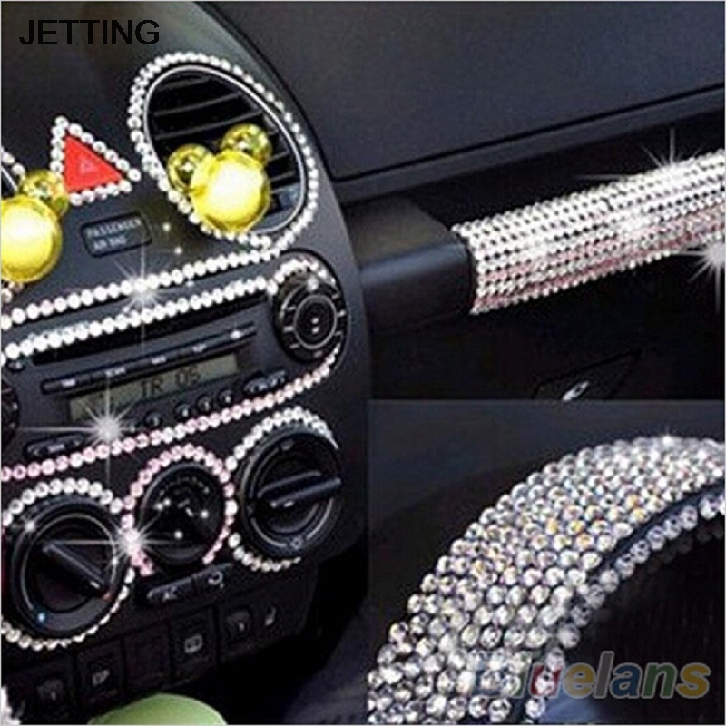 260pcs/set 6mm Dot Say It In Crystals Rhinestones Pink Silver Styling Accessories Beauty Car DIY Decal Decor Stickers