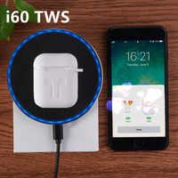 I60 TWS Pop-up 1:1 replika oddzielnego użytkowania bezprzewodowe słuchawki bezprzewodowego ładowania QI Bluetooth 5.0 Bass słuchawki douszne PK i20 i30 i10 tws