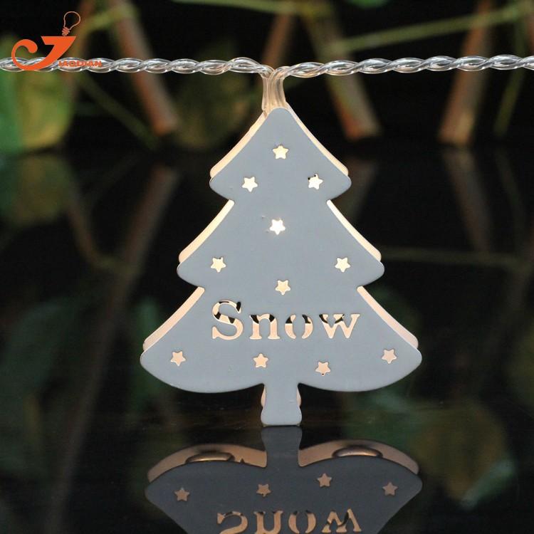 LED Lichtsnoer metal Christmas tree santa lighting (4)
