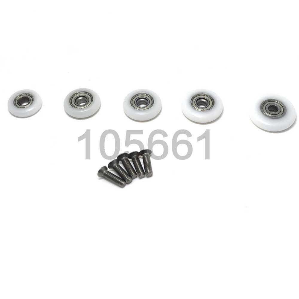 Roller diameter 23mm diametro 23 mm Set di 8 rotelle//ruote//guide singole per la porta della doccia