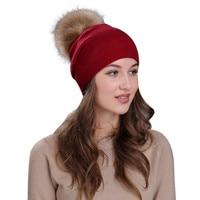 ChamsGend 2017 חמה למכירה באיכות גבוהה סרוגה חורף נשים כובע פרווה דביבון צמר לסרוג כובע חם Dropship 171030