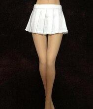 1/6 Scale Short Skirt White/Black Skirt Student Figure Clothes Female Pleated Skirt Girl Students Model for PH UD BodiesHot Toy skirt nife skirt page 6