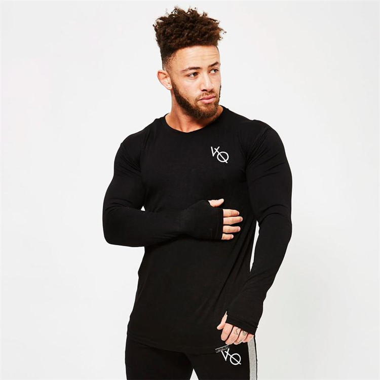3 Colours Men Running T-shirt Fitness Shirts Male Sports Long Sleeve Shirts Compression Tights Excerise T-Shirts Size M-XXL