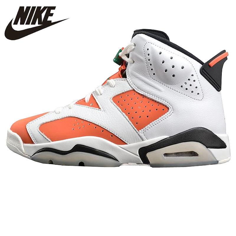 Nike AIR JORDAN 6 Gatorade Gatorade Men Air Cushion Basketball Shoes Sports Shoes, Original Outdoor Shoes 384664 145