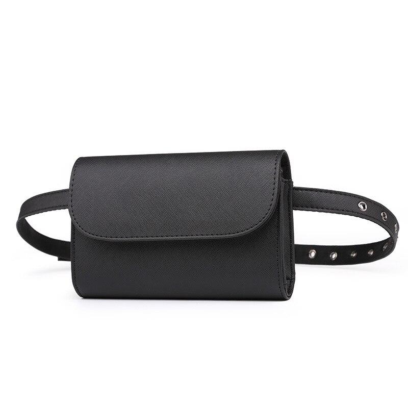 494dacfb042 High quality PU saffiano pattern waist packs bag women s pure color belt bag  shoulder bag