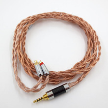 купить ZSFS 7N OCC Single crystal copper 2.5/3.5/4.4mm Balanced 0.78mm 2pin Cable For Westone W4r UM3X UM3RC ue11 ue18 tfz Earphone дешево