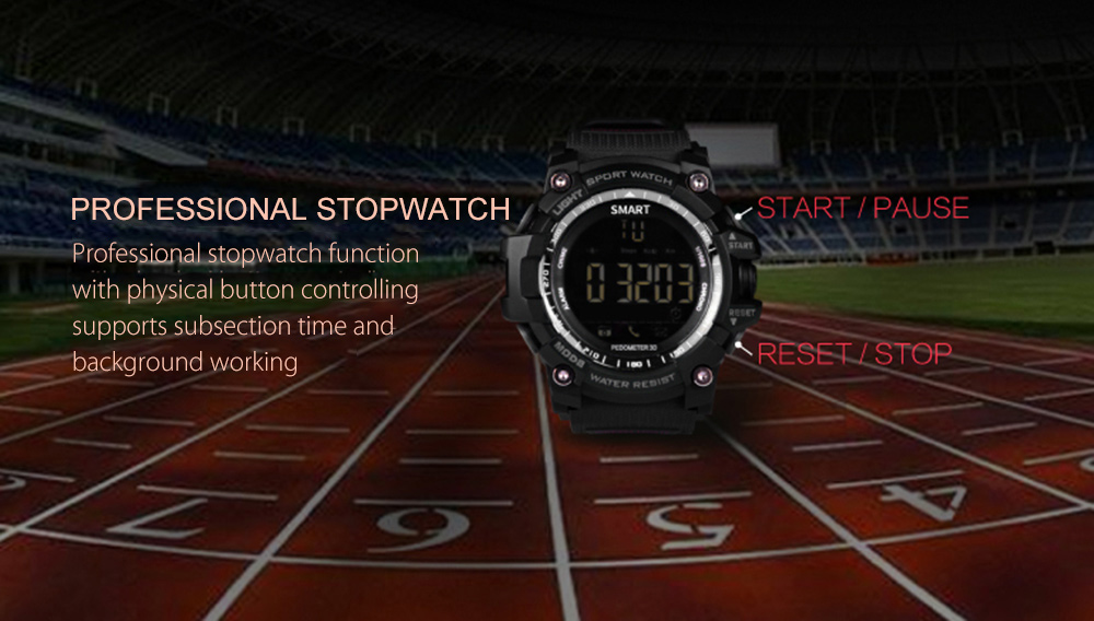AIWATCH XWATCH Sport Smart Watch Pedometer Stopwatch 5ATM Waterproof Smartwatch Call Message Reminder Wristwatch for Android IOS (3)