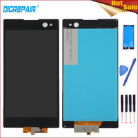New 100 Tested Black For Sony Xperia C3 D2533 D2502 LCD Display Digitizer Touch Screen Assembly