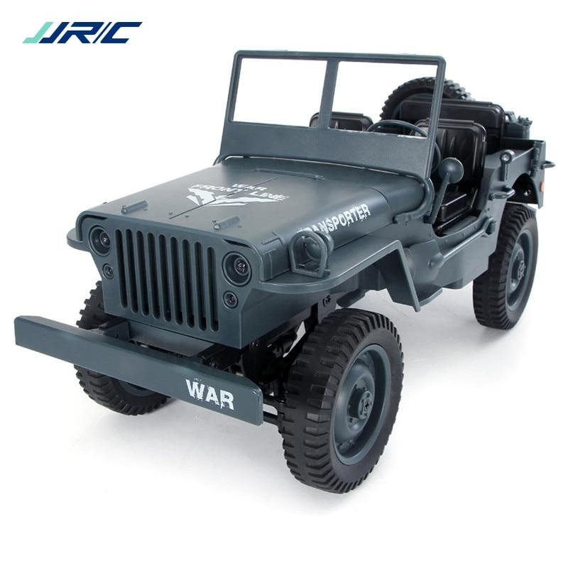 JJRC Q65 1:10 RC Voiture 2.4G 4WD Convertible télécommande Lumière Jeep Quatre Roues Motrices Hors Route Militaire escalade Voiture Jouet Enfant Cadeau - 2