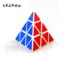 StZhou Triangle Pyramid Pyraminx Magic Cube Speed Puzzle Twist Cubes Educational Toys For Children Kids cubo