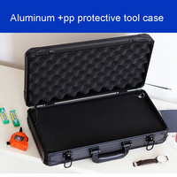 long Aluminum Tool case suitcase toolbox File box Impact resistant safety case equipment camera case with pre cut foam lining