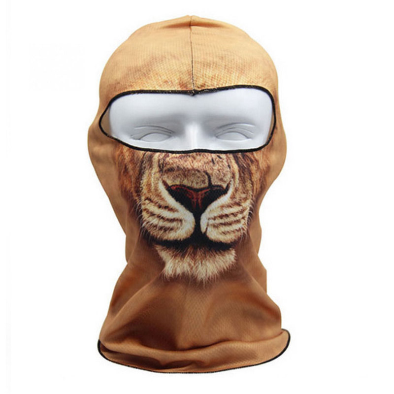 Winter 3D Animal Full Face Masks Fashion Outdoor Bicycle Mask Ski Cap Veil Winter Balaclava Mask UV Mask Hat Drop Shipping in Men 39 s Skullies amp Beanies from Apparel Accessories
