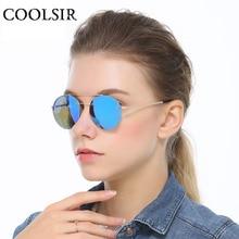 COOLSIR Round Alloy Sunglasses Steampunk Men Women Fashion Polarized Glasses Brand Designer Trend Vintage Sunglasses UV400 8053