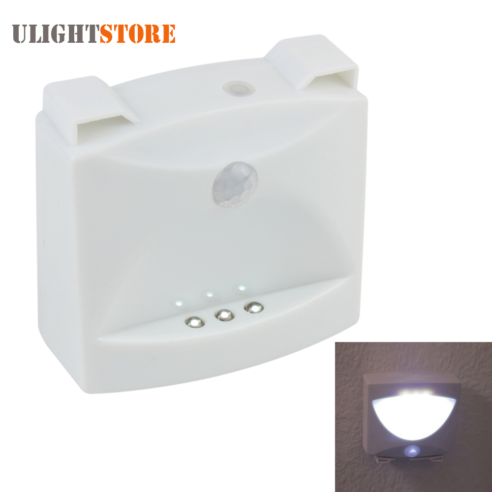 Mighty Light LED Night Light Motion Sensor Activated Indoor Outdoor Wall Lamp Nightlight for Baby Bedroom Stair Closet Hallway