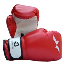 1 Pair Adult Boxing Gloves Adjustable PU Mittens Mitts Hand