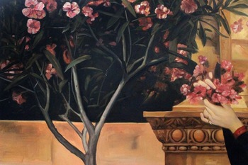 Oil Canvas Painting Handmade 100% -  Two Girls with an Oleander (detail-left) by Gustav Klimt Paintings Living Room Wall Decor