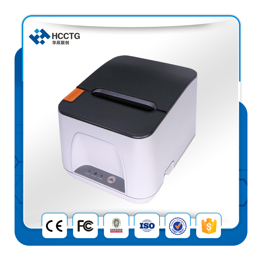 80mm Desktop Barcode Ethernet POS Receipt Printer POS887E USB+Ethernet Thermal Printer