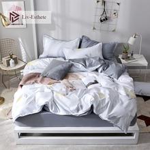 Liv-Esthete Fashion Lemon Cartoon Bedding Set Stripe Soft Duvet Cover Pillowcase Fitted Sheet Decor Bed Linen Adult Bedspread