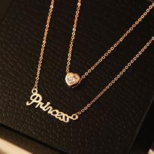 Ожерелье с подвеской в форме сердца двойная звезда Золотое колье