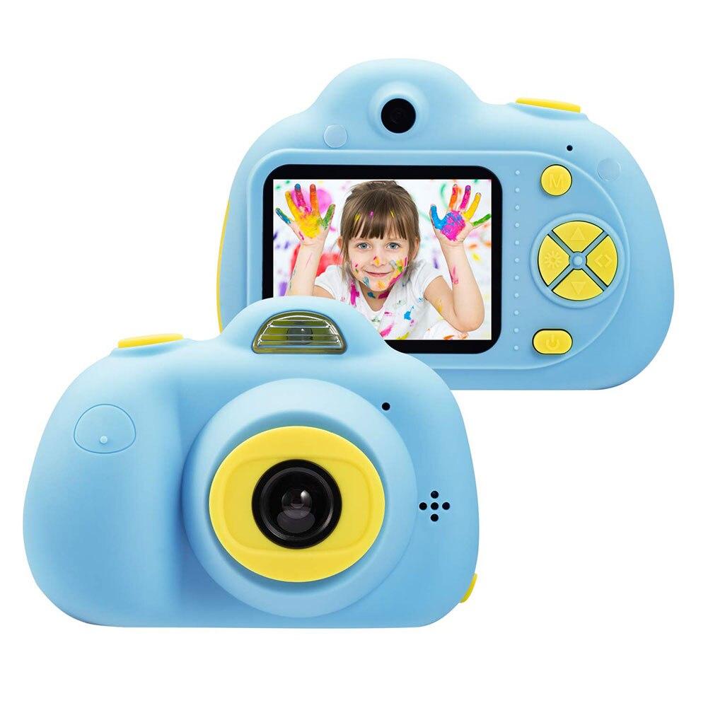 Enfant jouet caméra Support TF carte 2 pouces enfants passer appareil photo numérique enfant photographie mode petit reflex rose bleu 1080 p - 3