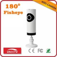 USC New Model Home Security Camera USB Powered Wifi Fisheye CCTV Onvif IP Audio Video Desk
