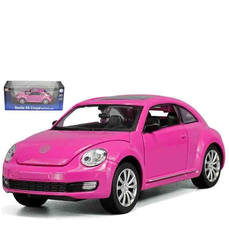 1/28 Scale for Volkswagen Beetle Diecast Model Car, Kid Boys Present, Metal Toys With Openable Doors/Pull Back Function/Music/Li
