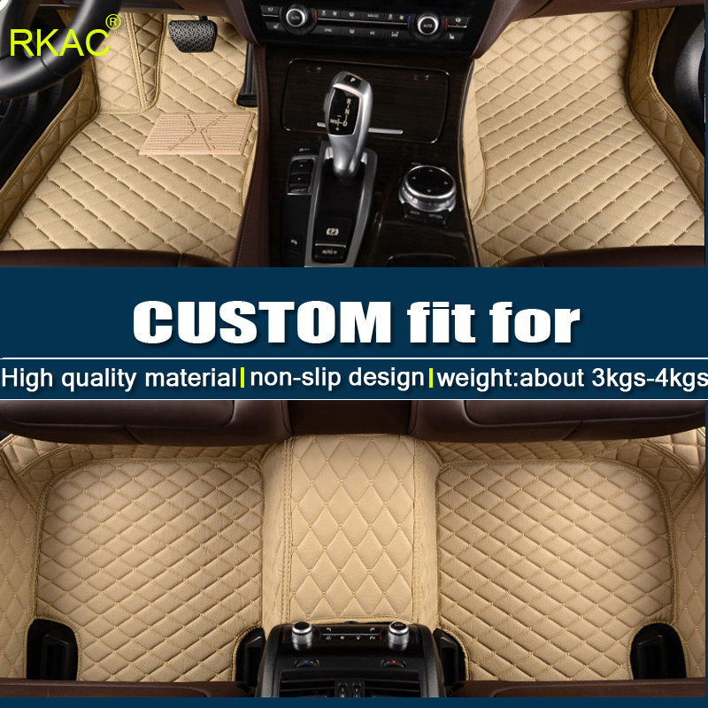 Car Trunk Mat Floor Mat Custom Made for 95/% of Car Models Floor coverage All Weather Trunk Protection Waterproof Cargo Mat Non-Slip Leather Liner Set Gray