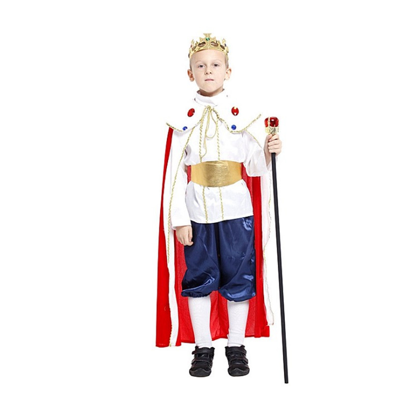 3 size new boys Royal king halloween king cosplay costumes children Ancient king Prince suit for
