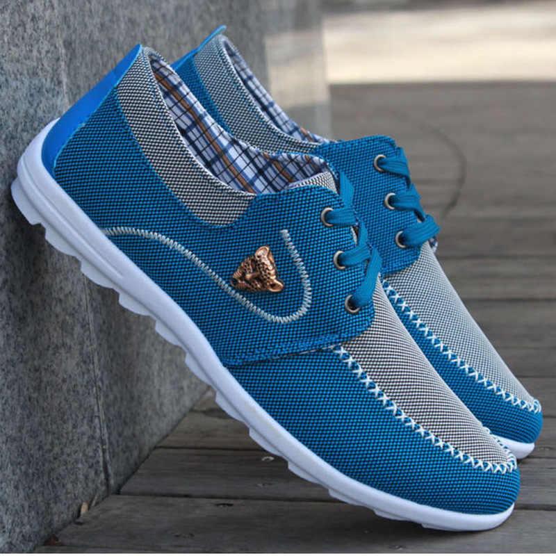 גברים נעליים יומיומיות 2019 בד נעלי גברים לנשימה בד מזדמן גברים נעלי הליכה גברים נעלי Chaussure Homme מפעל מכירות