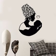 Vinyl Wall Decal African Native Woman Mother With Baby Stickers Removable Home Bedroom Art Mural Mothers Love AY629