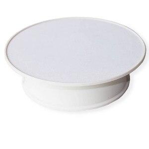 Image 1 - Le dessus blanc de velours a motorisé le présentoir de bijoux de 360 degrés par le plateau tournant de Rotation de batterie
