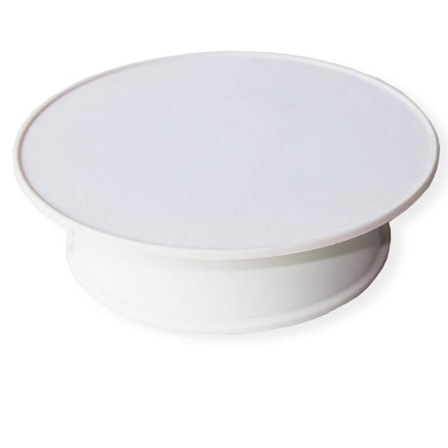 Le dessus blanc de velours a motorisé le présentoir de bijoux de 360 degrés par le plateau tournant de Rotation de batterie