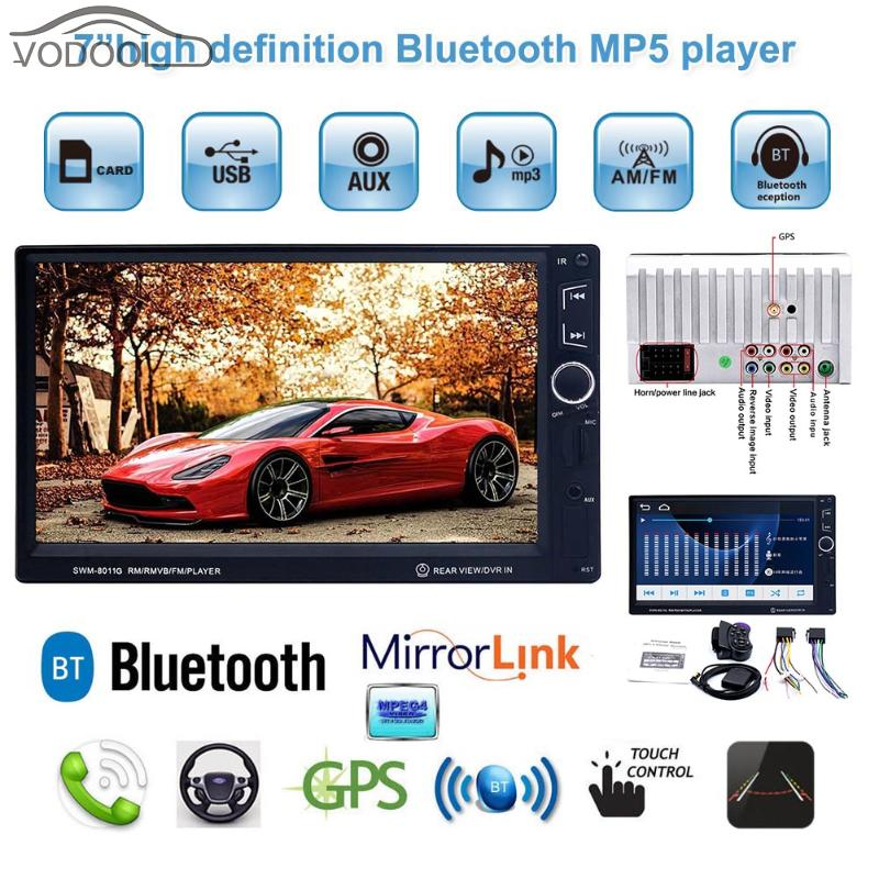 VODOOL 7 HD IPS 2Din Bluetooth Car Multimedia MP5 Player GPS Navigator Auto FM Radio Autoradio USB Charger with Remote Control 7021g 2 din car multimedia player with gps navigation 7 hd bluetooth stereo radio fm mp3 mp5 usb touch screen auto electronics