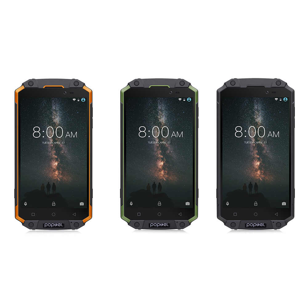 Poptel P9000 MAX 4G смартфон IP68 Android 7,0 MTK6750V, четыре ядра, 4 Гб Оперативная память 64 Гб Встроенная память 9000 мА/ч, 13.0MP OTG NFC мобильных сотовых телефонов