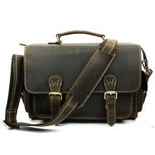 Trend SLR camera bag crazy horse leather messenger bag laptop shoulder new wholesale trade