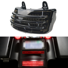 лучшая цена Motorcycle Touring Street Glide 2014-2019 Tri-Bar LED Rear Tail Brake Fender Tip Light Smoke Road Glide 2015-2019 Models