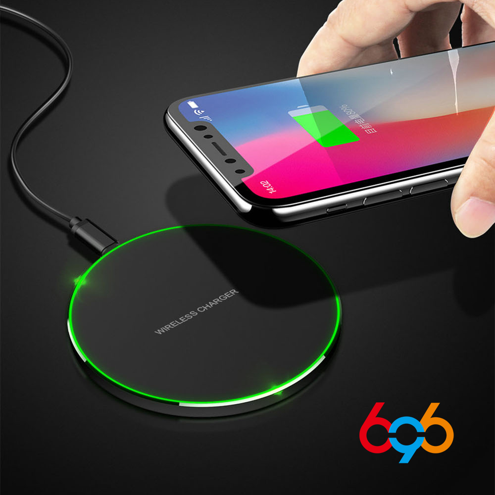 696 WP-68 10W Qi Wireless Charger for iPhone XS MAX/X/8 Visible Fast Wireless Charging pad for Samsung S11/9/S9+ S8 Note 10 9+ 8