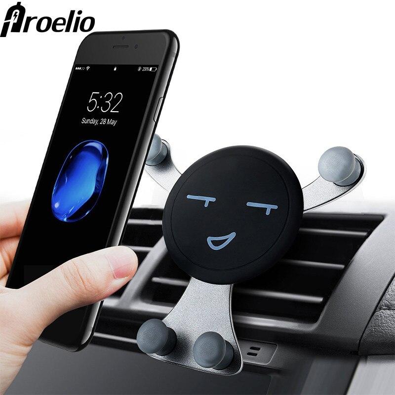 Gravité Voiture support pour téléphone Portable de Bâti D'évent de support de smartphone Pour Téléphone En Voiture Sourire Visage Ours Mobile support pour téléphone Support GPS
