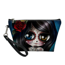 FORUDESIGNS Cute Girls Skull Monster 3D Printing Makeup Bag 2019 Cosmetic Bag Necessaire Bags Organizer Party Neceser Maquillaje