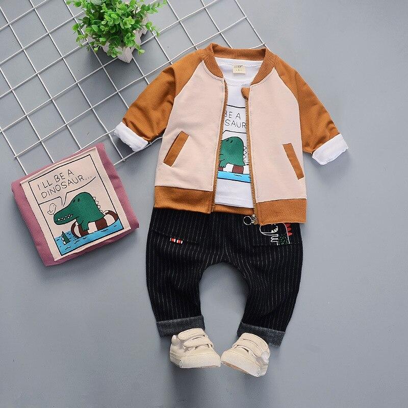 Printemps enfants à manches longues trois pièces bébé infantile enfants coton costume enfants vêtements tenue ensembles de mode