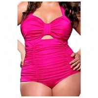 New Sale Womens Summer Sweetheart Ruched One Piece Swimwear Plus Size Rosy XXXXX Large Size