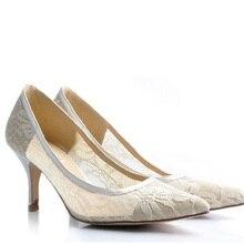 Ручной сексуальные кружева свадебное платье туфли свадебные туфли на каблуках ну вечеринку клуб обувь вырезать стилет высокий каблук туфли на высоком каблуке