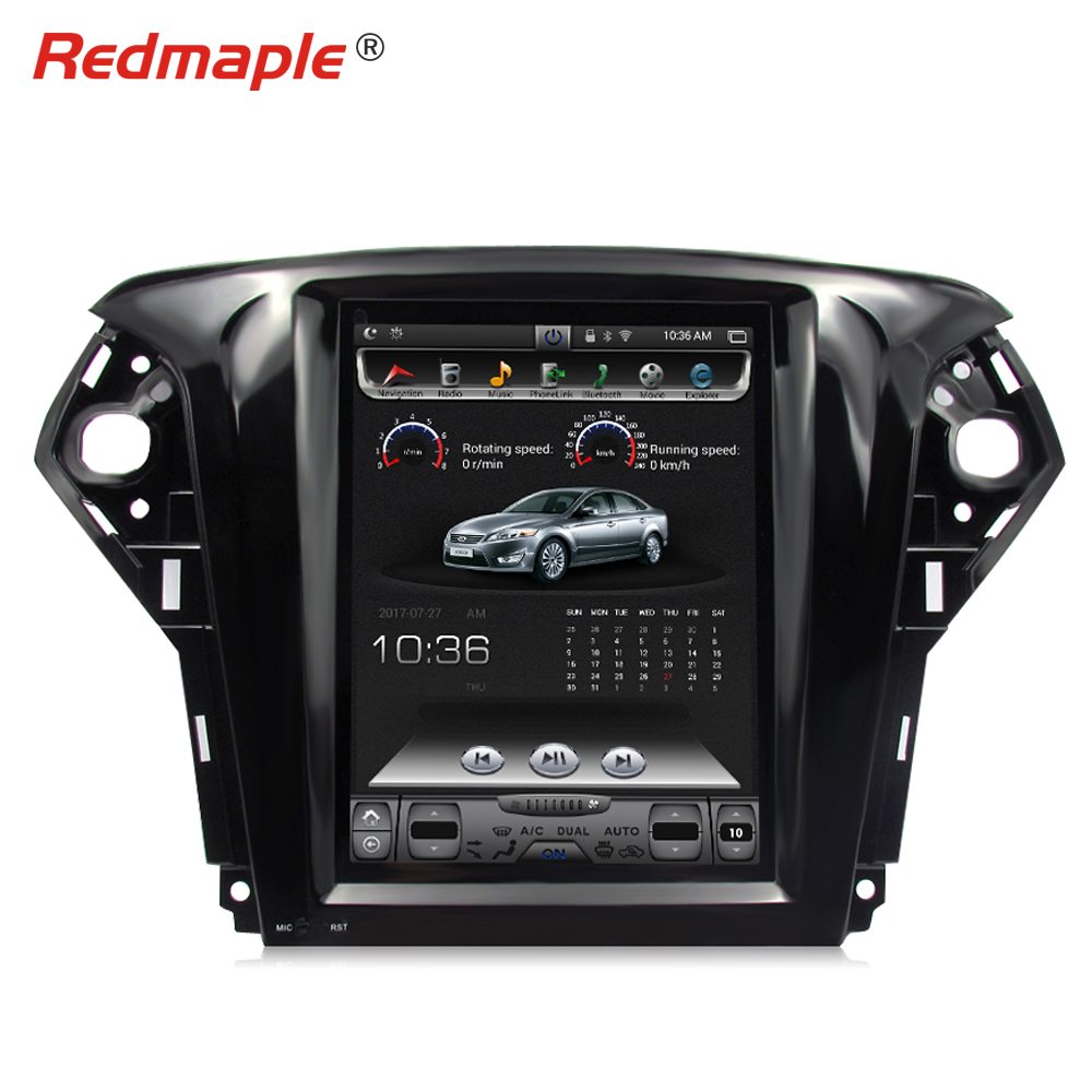 12.1 Huge Touch Screen Android Car Radio GPS Multimedia Player For Ford Mondeo 2009 2010 2011 Navigation Stereo Headunit RAM 2G