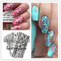 5Pcs/set BORN PRETTY Stamping Plate Sets BPL026-030 Nail Stamp Template Image Plates Flower Various Pattern Nail Stamping Plate