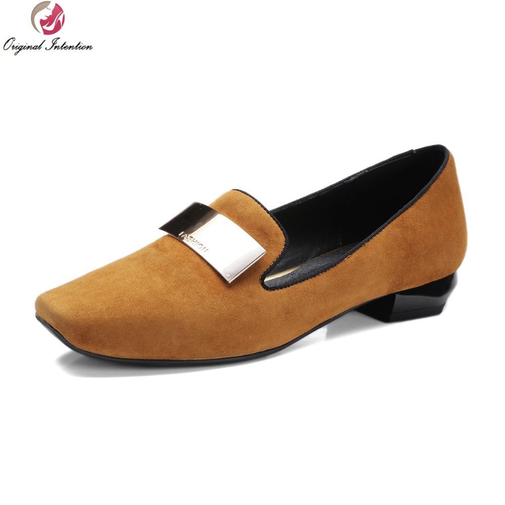 ФОТО Super Elegant 2017 Women Casual Shoes Fashoin Square Toe Square Heels High-quality Black Red Orange Shoes Woman US Size 4-10